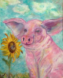 kimhicksartist.com,pig,colourful art